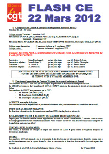 Télécharger le flash CE du 22 mars 2012