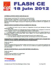 Télécharger le flash CE du 18 juin 2012