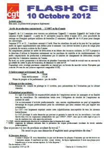 Télécharger le flash CE du 10 octobre 2012