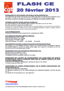 Télécharger le flash CE du 20 février 2013