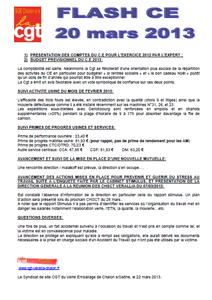 Télécharger le flash CE du 20 mars 2013