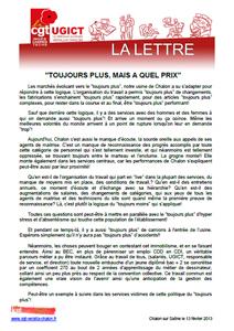 Télécharger la lettre UGICT Verallia de février 2013