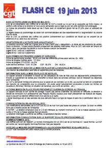 Télécharger le flash CE du 19 juin 2013