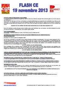 Télécharger le flash CE du 19 novembre 2013