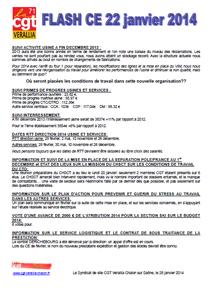 Télécharger le flash CE du 22 janvier 2014